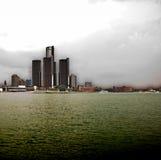 Orizzonte di Detroit Fotografia Stock Libera da Diritti