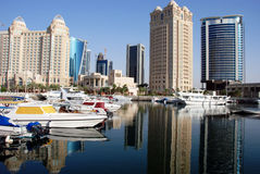 Orizzonte di Doha Immagini Stock
