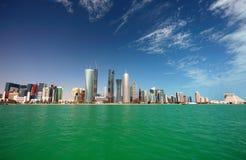Orizzonte di Doha fotografie stock libere da diritti