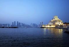 Orizzonte di Doha fotografia stock libera da diritti