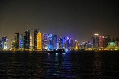 Orizzonte di Doha fotografie stock