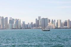Orizzonte di Doha qatar Fotografia Stock