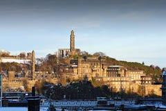 Orizzonte di Edinburgh in inverno Immagini Stock