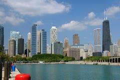 Orizzonte di estate del Chicago Immagini Stock Libere da Diritti