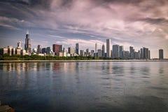 Orizzonte di fama mondiale di Chicago Fotografia Stock Libera da Diritti