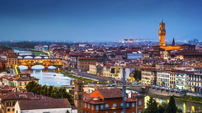 Orizzonte di Firenze Fotografia Stock Libera da Diritti