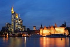 Orizzonte di Francoforte Fotografie Stock Libere da Diritti
