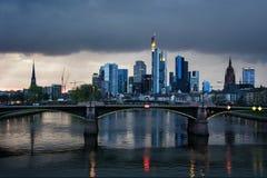 Orizzonte di Francoforte, Germania Immagini Stock Libere da Diritti