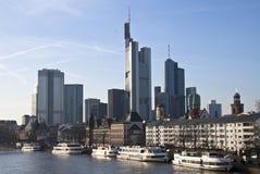Orizzonte di Francoforte sul Meno Immagine Stock
