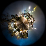 Orizzonte di Francoforte sul Meno poco pianeta Fotografia Stock Libera da Diritti
