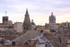 Orizzonte di Genova fotografie stock libere da diritti