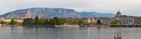 Orizzonte di Ginevra panoramico Fotografie Stock Libere da Diritti
