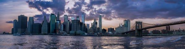 Orizzonte di Gotham City fotografia stock