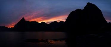 Orizzonte di Hamnoy, isole di Lofoten Fotografia Stock Libera da Diritti