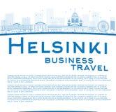 Orizzonte di Helsinki del profilo e spazio della copia illustrazione vettoriale