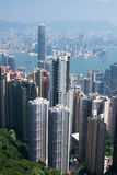 Orizzonte di Hong Kong Fotografie Stock Libere da Diritti