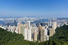 Orizzonte di Hong Kong Immagini Stock
