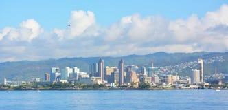 Orizzonte di Honolulu, Hawai Fotografie Stock Libere da Diritti