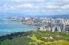 Orizzonte di Honolulu, Hawai, U.S.A. Fotografia Stock Libera da Diritti