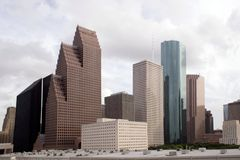 Orizzonte di Houston il Texas Fotografie Stock Libere da Diritti