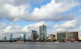 Orizzonte di Jacksonville Florida fotografia stock libera da diritti