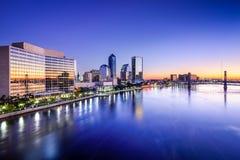 Orizzonte di Jacksonville, Florida Fotografia Stock Libera da Diritti