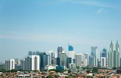 Orizzonte di Jakarta fotografia stock libera da diritti