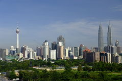 Orizzonte di Kuala Lumpur Immagine Stock