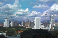 Orizzonte di Kuala Lumpur Fotografia Stock Libera da Diritti
