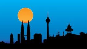 Orizzonte di Kuala Lumpur Immagini Stock