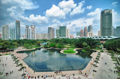 Orizzonte di Kuala Lumpur, Malesia immagine stock libera da diritti