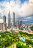 Orizzonte di Kuala Lumpur, Malesia Immagini Stock Libere da Diritti