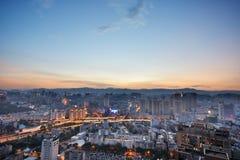 Orizzonte di Kunming Fotografia Stock