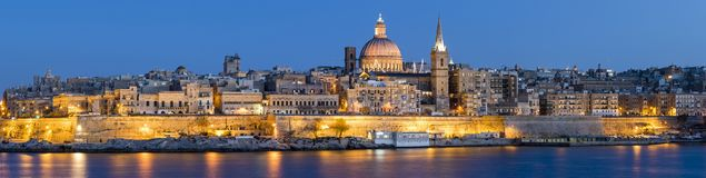Orizzonte di La Valletta Fotografie Stock