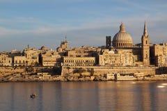 Orizzonte di La Valletta Fotografia Stock