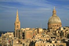Orizzonte di La Valletta, Malta Immagini Stock Libere da Diritti
