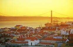 Orizzonte di Lisbona fotografia stock libera da diritti
