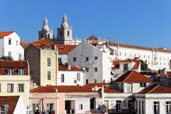 Orizzonte di Lisbona Immagini Stock Libere da Diritti