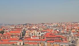 Orizzonte di Lisbona immagine stock