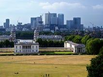 Orizzonte di Londra da Greenwich Fotografie Stock Libere da Diritti