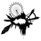 Orizzonte di Londra nello stile del grunge illustrazione vettoriale