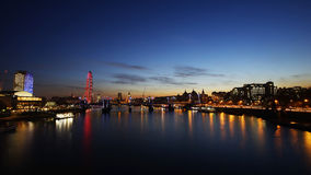 Orizzonte di Londra, vista di notte Fotografia Stock Libera da Diritti