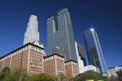 Orizzonte di Los Angeles con un cielo blu libero Fotografia Stock Libera da Diritti