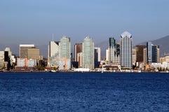Orizzonte di lungomare di San Diego Fotografia Stock
