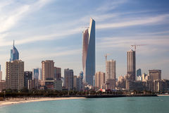 Orizzonte di Madinat al-Kuwait Immagini Stock Libere da Diritti