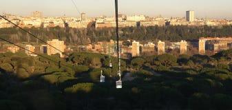 Orizzonte di Madrid fotografie stock libere da diritti