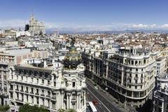 Orizzonte di Madrid Fotografia Stock