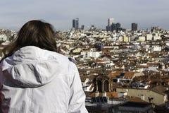 Orizzonte di Madrid Fotografia Stock Libera da Diritti