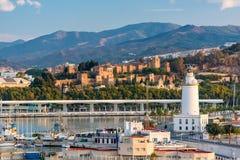 Orizzonte di Malaga, Spagna immagine stock