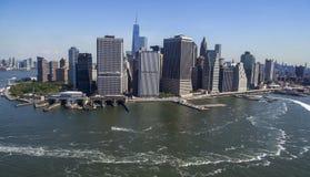 Orizzonte di Manhattan - di New York da sopra Fotografia Stock